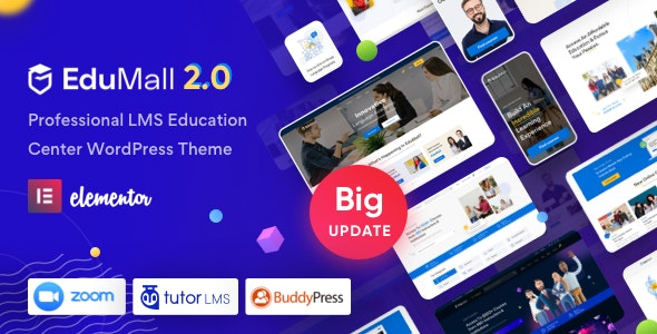 NULLED EduMall v2.6.0 - Professional LMS Education Center WordPress Theme
