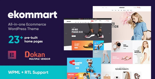 NULLED Ekommart v3.5.0 - All-in-one eCommerce WordPress Theme