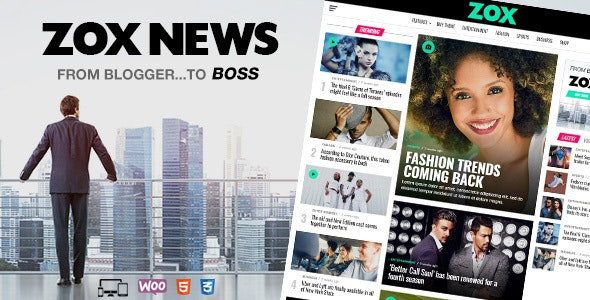 NULLED Zox News v3.9.0 - Professional WordPress News