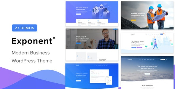 NULLED Exponent v1.2.9.0 - Modern Multi-Purpose Business Theme