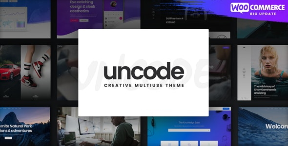 NULLED Uncode v2.3.6 - Creative Multiuse WordPress Theme