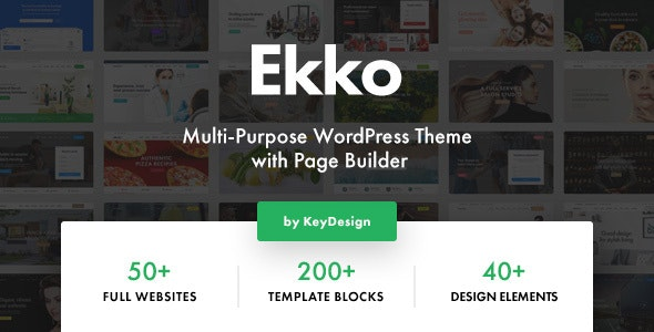 NULLED Ekko v2.6 - Multi-Purpose WordPress Theme with Page Builder