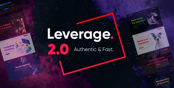 NULLED Leverage v2.0.7 - Creative Agency & Portfolio WordPress Theme