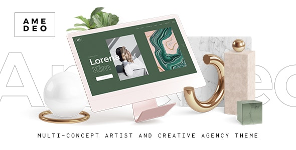 NULLED Amedeo v1.2 - Multiconcept Artist and Creative Agency WordPress Theme
