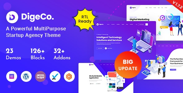 NULLED Digeco v1.7.2 � Startup Agency WordPress Theme