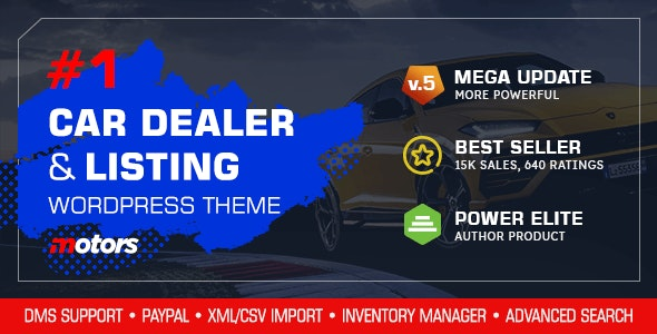 NULLED Motors v5.0 - Automotive, Cars, Vehicle, Boat Dealership WordPress Theme
