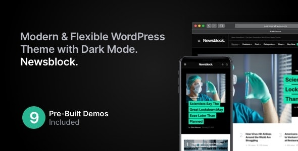 NULLED Newsblock v1.1.4 - News & Magazine WordPress Theme with Dark Mode